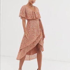ASOS midi dress with cape back and dip hem (17)